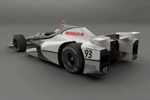 Honda Speedway Aero Kit Rear 3/4 view